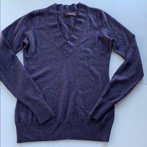 The Limited V-neck Sweater Heathered Violet Blue S